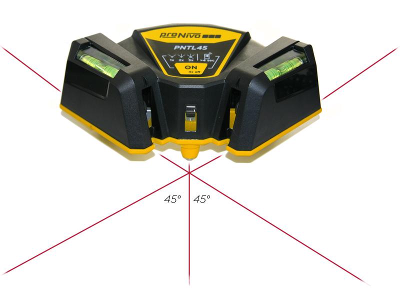 Laser Entfernungsmesser Linienlaser : Fliesenlegerlaser pntl45 mit 45° linie kreuz punkt linienlaser