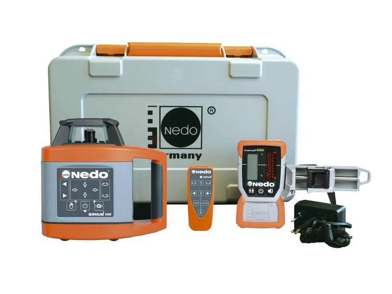 Laser Entfernungsmesser Mit Fernbedienung : Nedo rotationslaser sirius hv m empfänger u fernbedienung